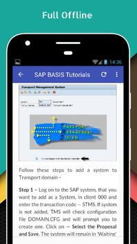 Tutorials for SAP BASIS Offline apk screenshot