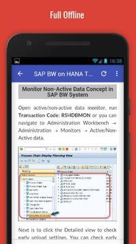 Tutorials for SAP BW on HANA Offline apk screenshot