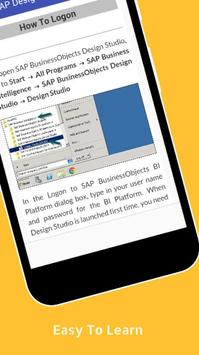 Tutorials for SAP Design Studio Offline screenshot 3