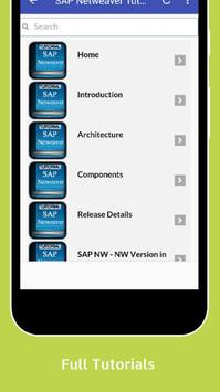 Tutorials for SAP Netweaver Offline apk screenshot