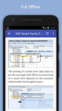 Tutorials for SAP Smart Forms Offline apk screenshot