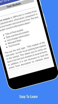 Tutorials for SAP Scripts Offline screenshot 3