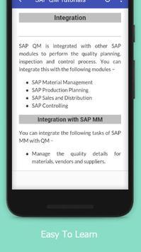 Tutorials for SAP QM Offline apk screenshot