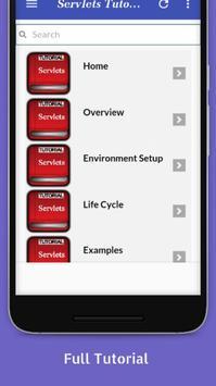 Tutorials for Servlets Offline apk screenshot