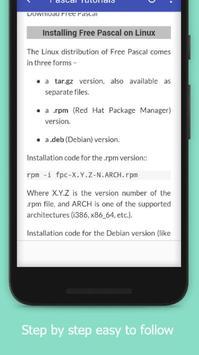 Tutorials for Pascal Offline apk screenshot