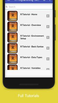Tutorials for R Programming Offline screenshot 1