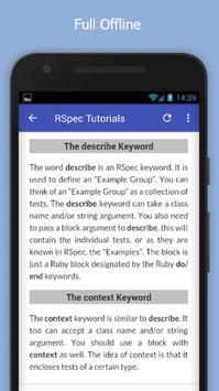 Tutorials for RSpec Offline screenshot 4