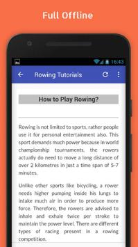 Tutorials for Rowing Offline apk screenshot
