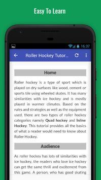 Tutorials for Roller Hockey Offline screenshot 2
