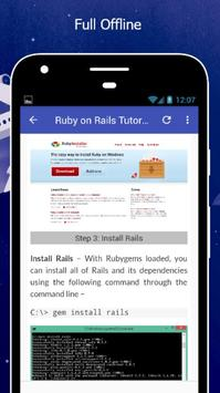 Tutorials for Ruby on Rails Offline screenshot 4