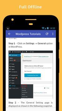 Tutorials for Wordpress Offline screenshot 4