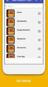 Tutorials for Web Analytics Offline apk screenshot