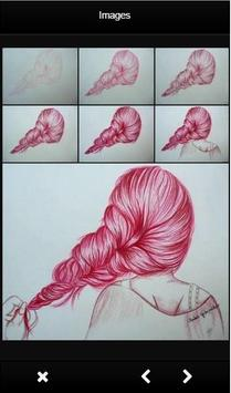Learn To Drawing Hair apk screenshot