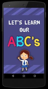 Learn ABC's - Flash Cards Game screenshot 1