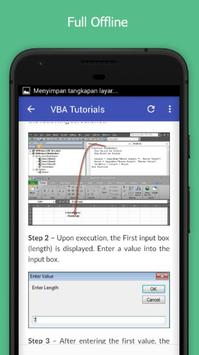 Tutorials for VBA Offline apk screenshot