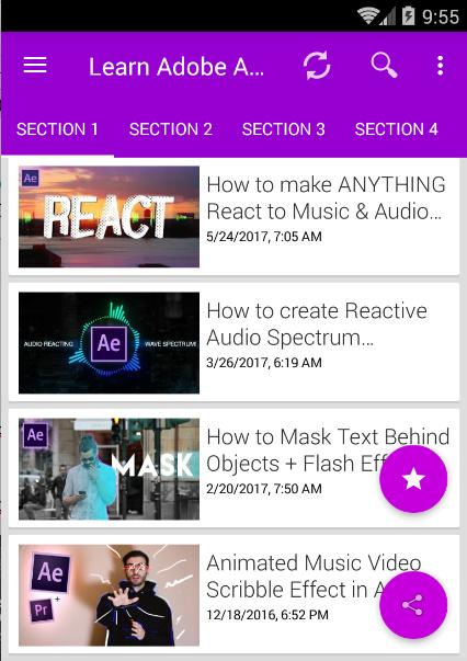 Learn Adobe After Effects CC, CS6 Video Editor for Android