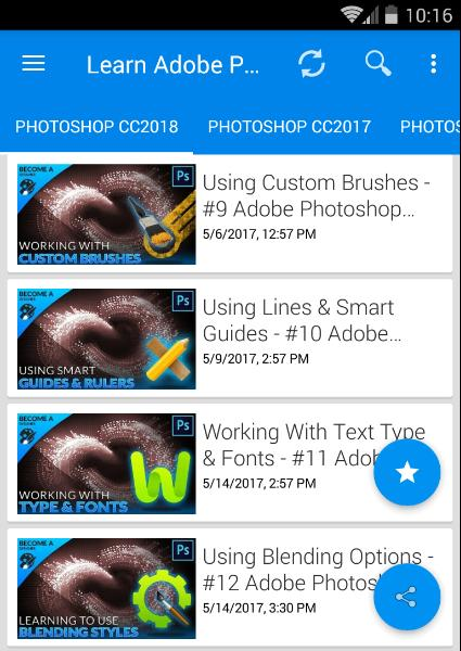 Adobe Photoshop CS6, CC 2017, CC 2018 Course for Android