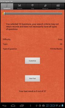GCSE English Questions free screenshot 1