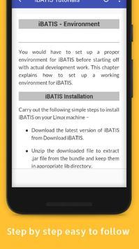 Tutorials for iBATIS Offline apk screenshot