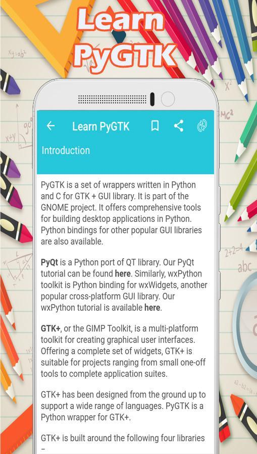 Learn PyGTK for Android - APK Download