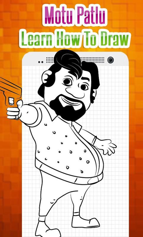 How To Draw Characters Of Motu Patlu Easy Steps For Android Apk