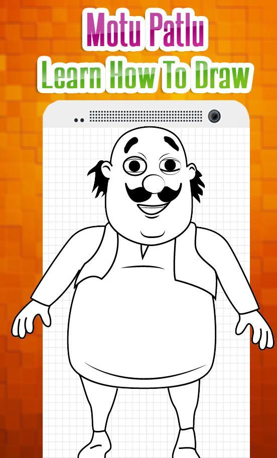 How to Draw Characters of Motu Patlu Easy Steps for Android
