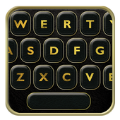 Luxury Leather Keyboard Themes With Emojis icon