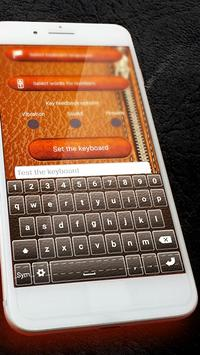 Luxury Leather Keyboard Themes With Emojis apk screenshot