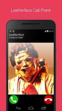 leatherface fake call prank poster