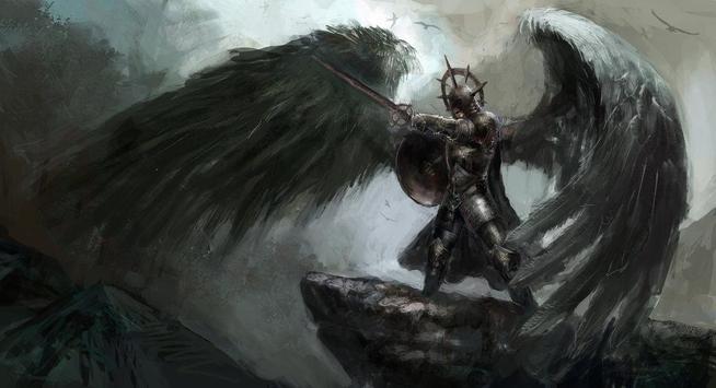 Fallen Angel Live Wallpaper apk screenshot