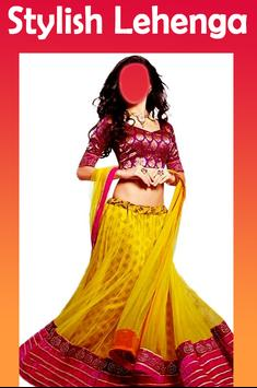 Lehenga Choli Image Editor: Suit Choli Photo Frame poster