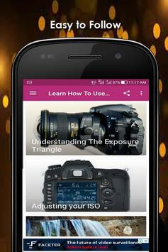 Learn How To Use A DSLR Camera screenshot 4