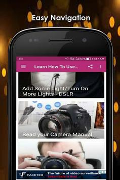Learn How To Use A DSLR Camera screenshot 1
