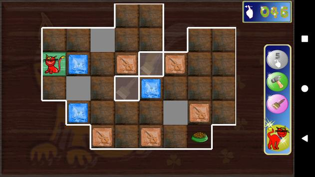 Wooden blocks sliding puzzle. Musky's labyrinth poster