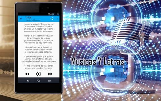 Gilda Canciones y Letras apk screenshot