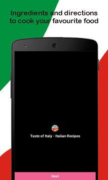 Taste of Italy - Italian Recipes screenshot 1