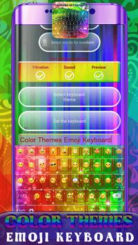 Color Themes Emoji Keyboard poster
