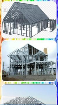 Lightweight steel roof truss design screenshot 3