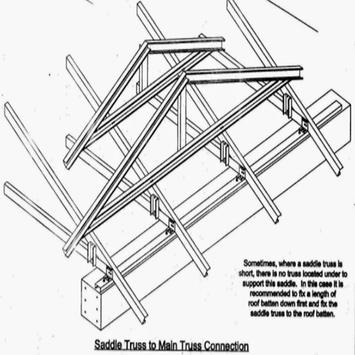 Lightweight steel roof truss design poster
