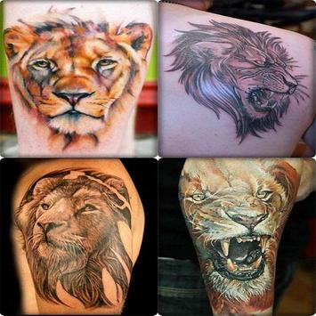 Lion Tattoo Designs For Guys poster