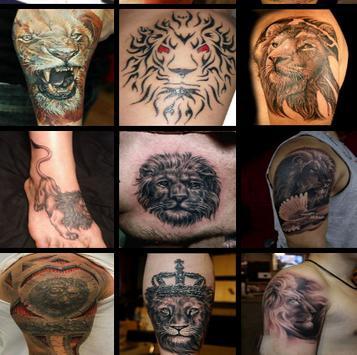 Lion Tattoo Designs For Guys screenshot 1