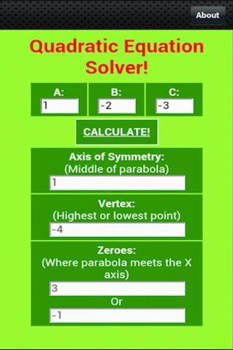 Free Quadratic Equation Solver for Android - APK Download