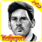 Lionel Messi Line Art Hd Wallpapers icon