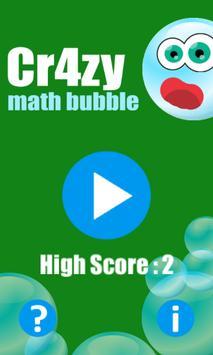 Crazy Math Bubble poster