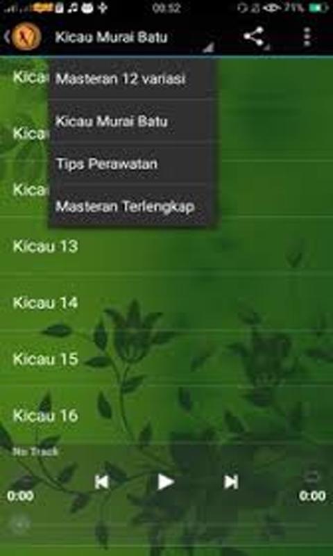 Master suara murai batu mp3 for android apk download.