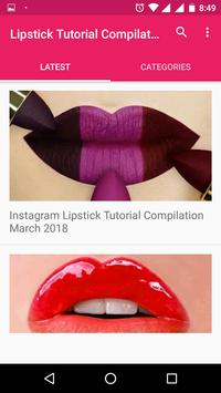 Lipstick Tutorial Compilations screenshot 1