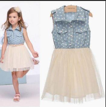 Little Girl Dress Design poster