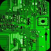 Electronic circuit board icon