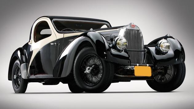 Vintage cars. Live wallpaper poster