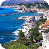 French coastal view. Wallpaper icon